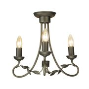 Olivia 3 Light Fitting in a Black Gold Finish - ELSTEAD OV3 BG